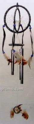 "20"" Round 4 Tube Dream Catcher Wind Chime"