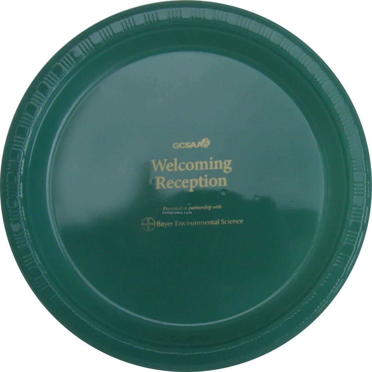 "9"" Round Hunter Green Colorware Paper Plate"