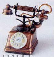 Early American Bronze Metal Pencil Sharpener - Telephone