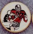 "Round Deal 1"" Insert Football Player - Medallions Stock Kromafusion"