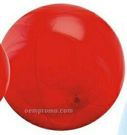 "9"" Inflatable Translucent Red Beach Ball"