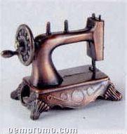 Early American Bronze Metal Pencil Sharpener - Sewing Machine