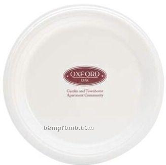 "White Paper Plate 9"" Round"