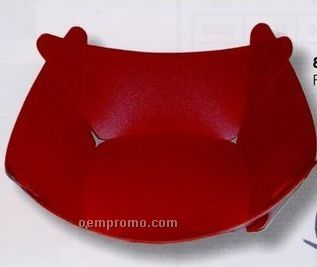 """Square Bowl Plyfold3 Container W/Tab Closure - Flat 6-7/8"""" Wide"""