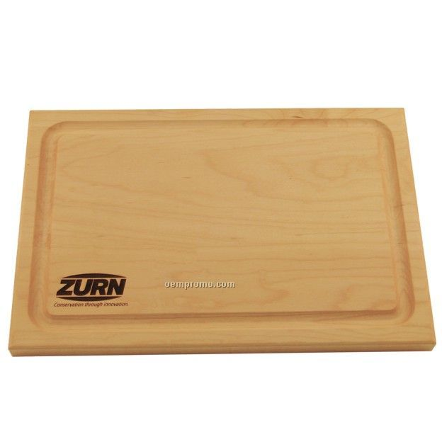"Wood Cutting Board With Juice Or Crumb Groove (12""X8""X3/4"")"