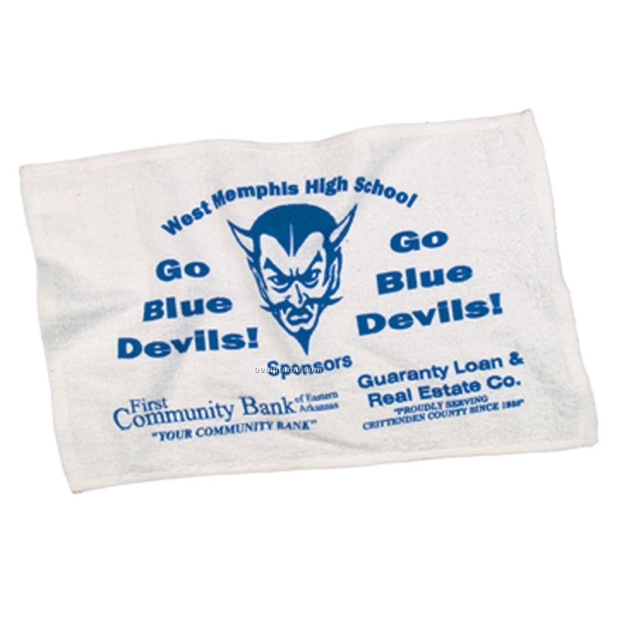 "Personalized Spirit Towels: 100% Terry White Spirit Towel (12""X18""),China Wholesale"