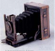 Early American Bronze Metal Pencil Sharpener - Camera