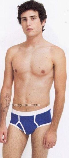 Men's Baby Rib Brief Underwear - 10% Polyester In Heather Gray