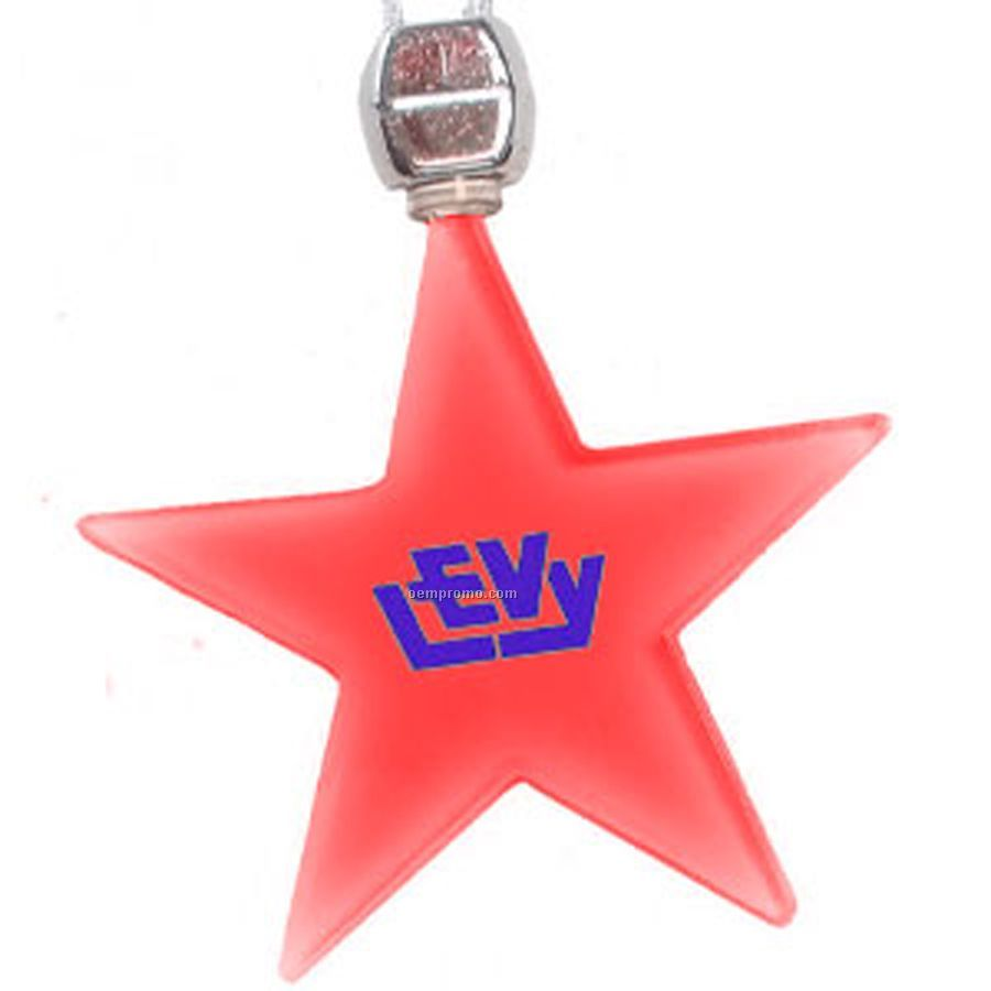 Red Star Light Up Pendant Necklace