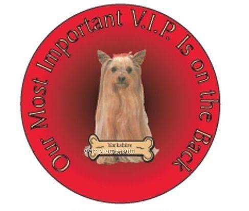 """Yorkshire Terrier Dog Round Hand Mirror (2 1/2"""")"""