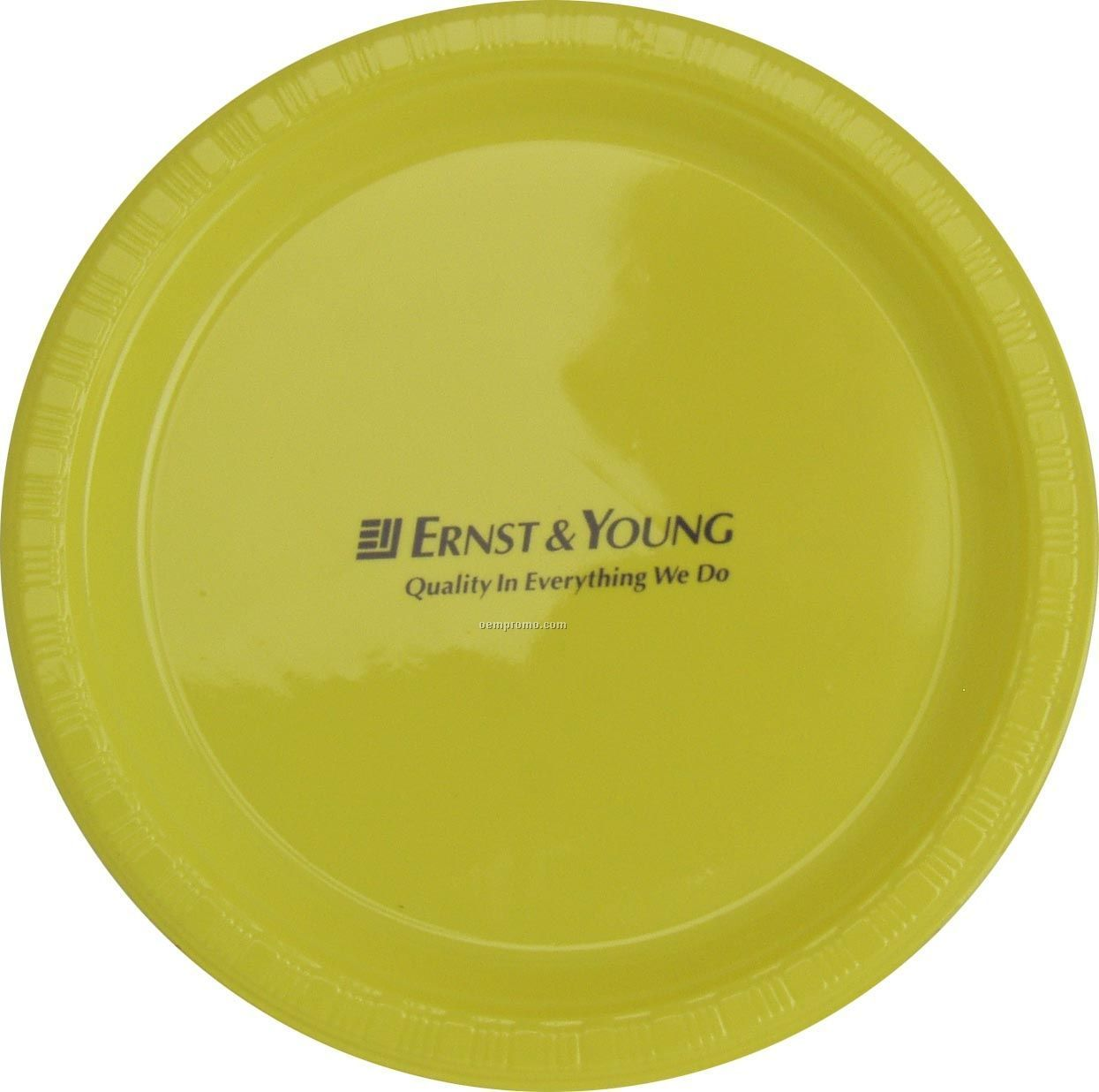 "9"" Round Mimosa Yellow Colorware Paper Plate"