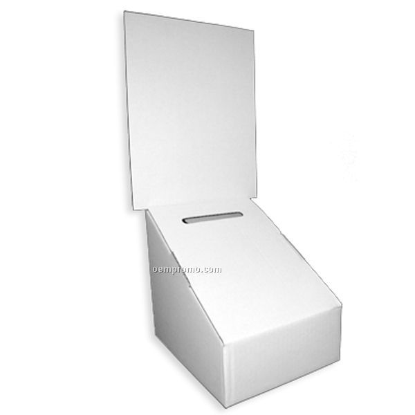 Ballot Box 7''w X 8''h X 8 3/4''l W/8 1/2''w X 11'h Removable Header