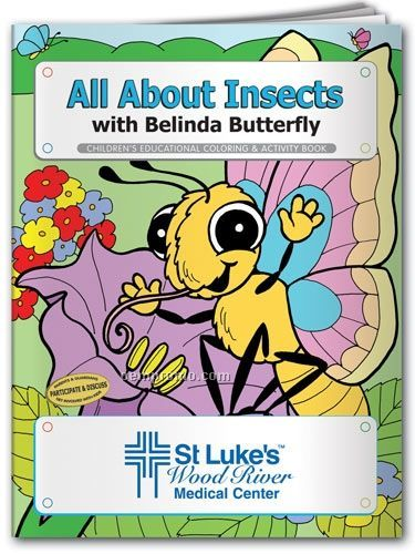 Fun Pack Coloring Book W/Crayons - All About Insects With Belinda Butterfly