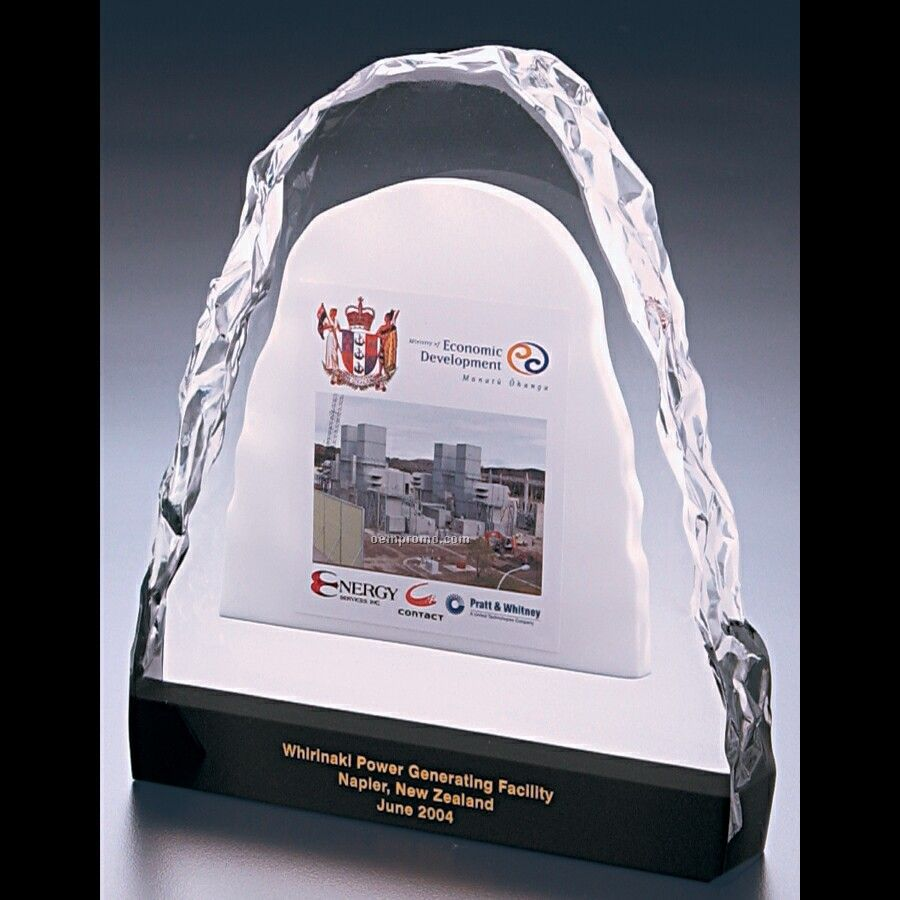 "Lucite Ice Effect Award (6 3/4""X8""X1 1/4"")"