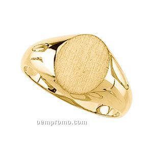14ky 11x9.5 Ladies' Oval Signet Ring