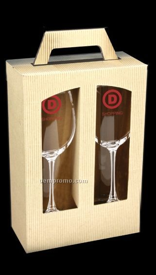 Boxed wine glasses