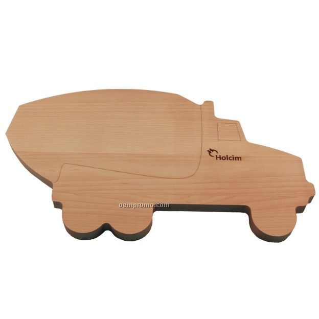 Cement Truck Shaped Wood Cutting Board