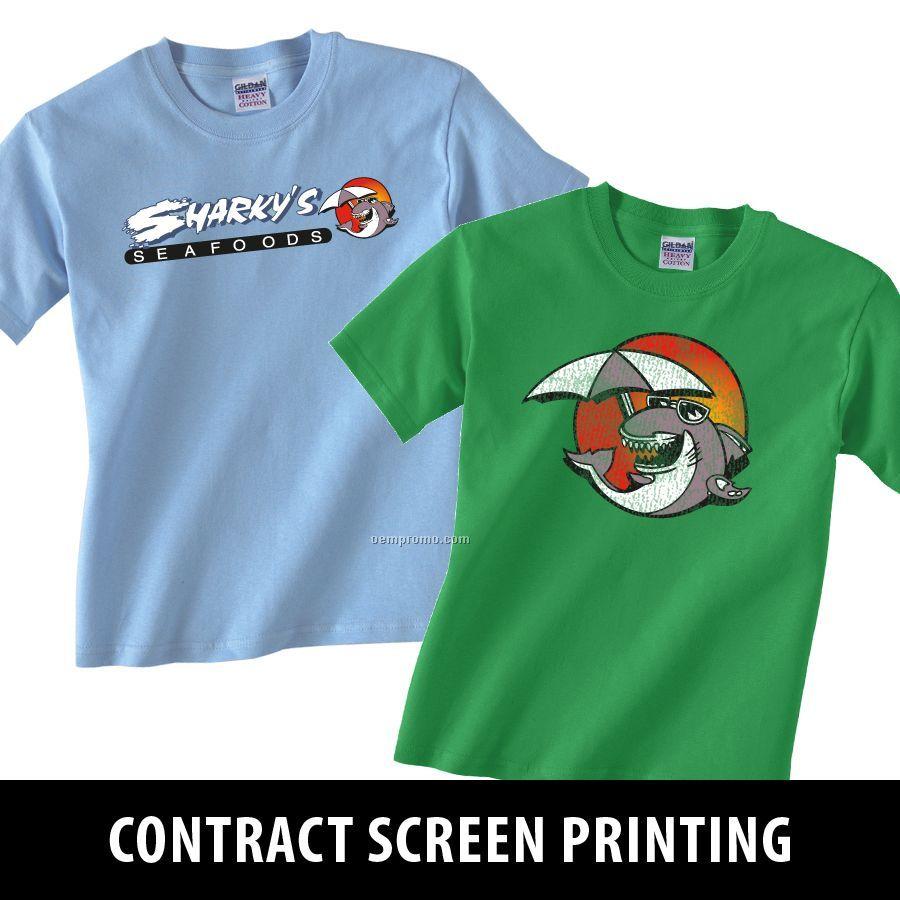 Contract Screen Print Services - 4 Spot Colors