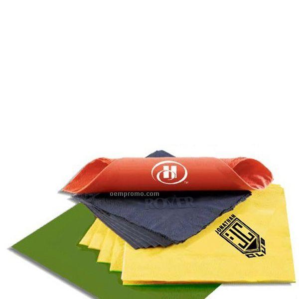 "Dinner Napkin - Pastel Colors 2 Ply 15"" X 17"" 1/8 Fold 2 Color Imprint"