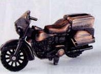 Early American Bronze Metal Pencil Sharpener - Motorcycle