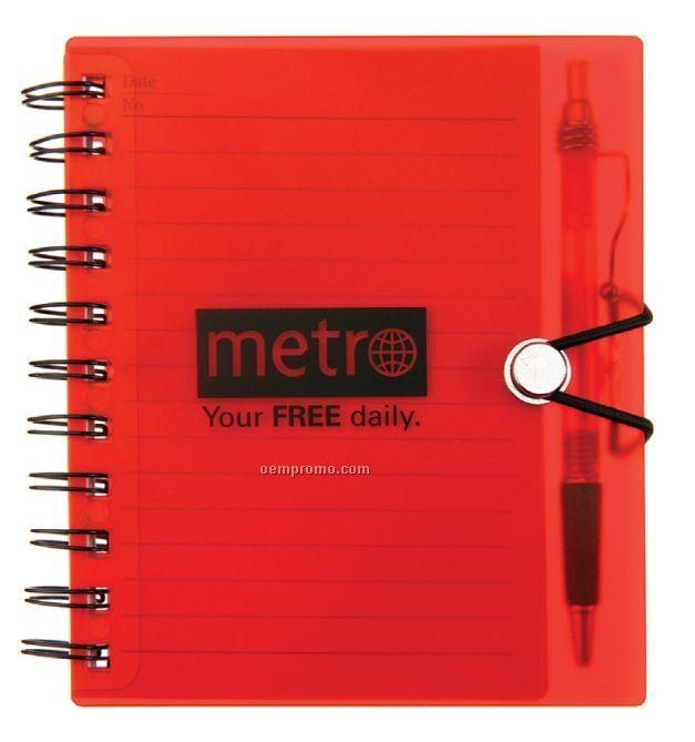Hard Cover Notebook & Ballpoint Pen Combo