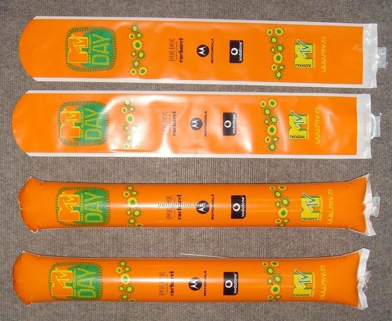 Noisemaker Thunder Sticks , Round Tip , Promotional Cherring Sticks (Pair)