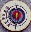 "Round Deal 1"" Insert Archery Target - Medallions Stock Kromafusion"