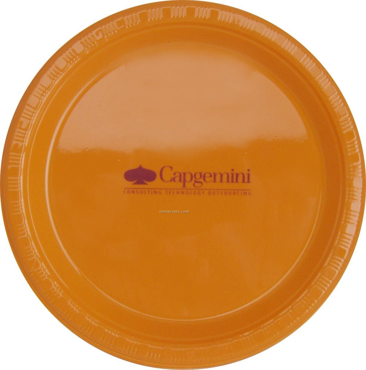 """9"""" Round Sunkissed Orange Colorware Paper Plate"""