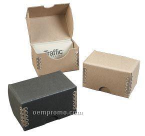 9064-chipboard Business Card Box W/Metal Edge (2