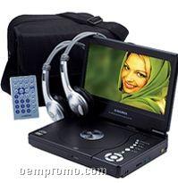 "8"" Lcd Slim Line Portable Slim Line DVD Player With Headphones"