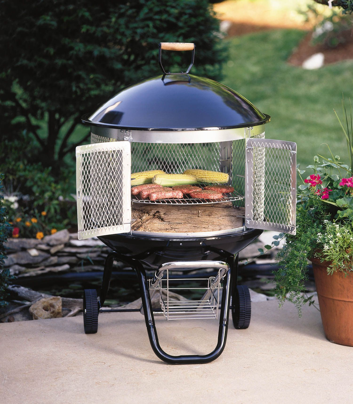 """Fire Sense 28"""" Patio Hearth Pro Outdoor Fireplace/Grill"""