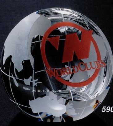 "Global Gallery Crystal Clipped Globe Award (2 3/8"")"