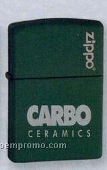 Green Matte Zippo Lighter