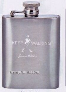 Stainless Steel Pocket Flask With Captive Lid (3.5 Oz.)