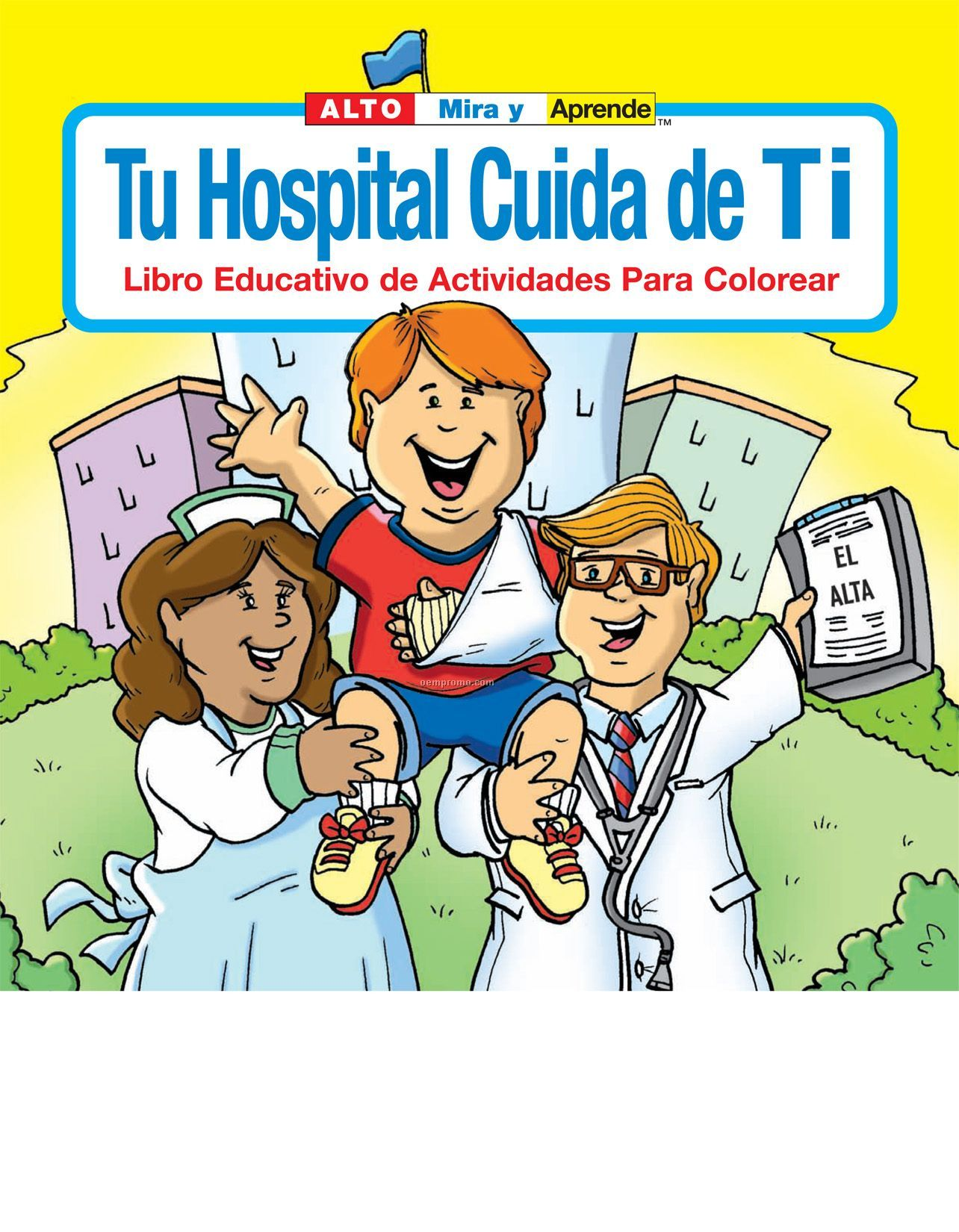 Your Hospital Cares About You Spanish Coloring Book Fun Pack