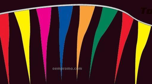 60' Fluorescent Tornado Pennants W/ 52 Per String - Assorted Colors