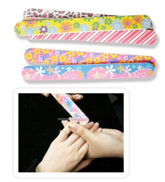 Full Color Imprinted Two-way Nail File