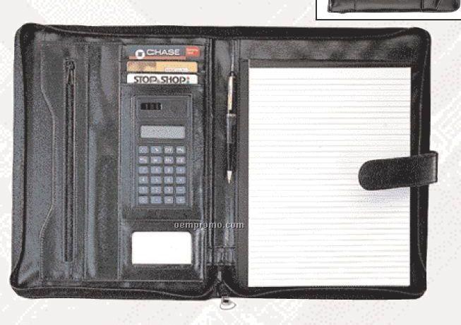 Full Zippered Portfolio With Calculator