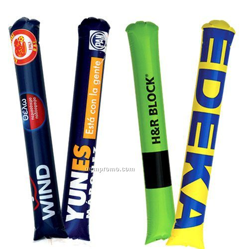 Noisemakers Thunder Sticks , Round Tip , Custom Logo Cherring Sticks , Pair