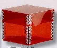 "9071-chipboard 2 Piece Metal Edge Box (3-1/4""X3-1/4""X3-1/4"")"