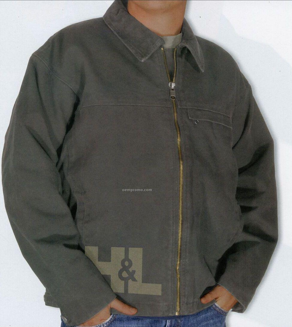Dakota Men's 14 Oz. Stone/Enzyme Washed Jacket (Laser Etched - Xs-xl)