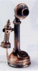 Early American Bronze Metal Pencil Sharpener - Stalk Telephone