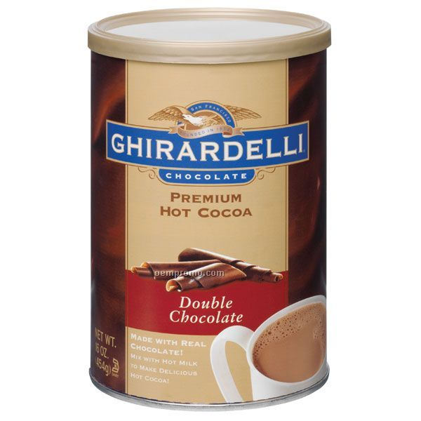 Ghirardelli Double Chocolate Cocoa Can