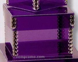 "9072-chipboard 2 Piece Metal Edge Box (4-1/4""X4-1/4""X3"")"