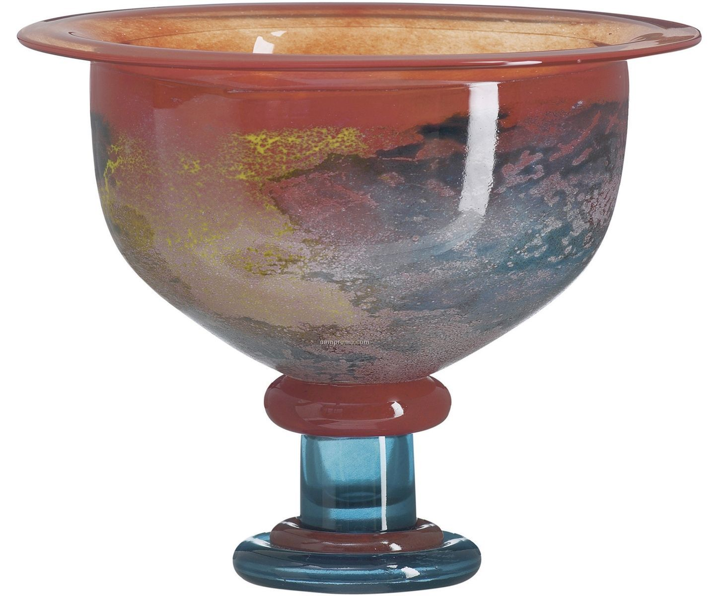 Cancan Glass Footed Bowl By Kjell Engman