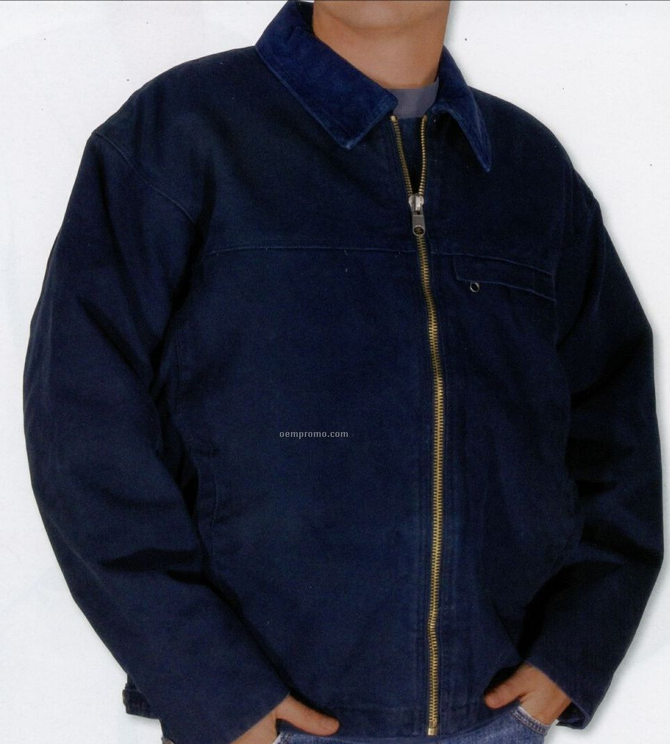 Dakota Men's 14 Oz. Stone/Enzyme Washed Jacket (Blank - Xs-xl)