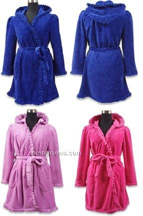 Robe With Ruffle Border & Hood