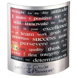 "Silver Executive Desk Display W/ Real Estate Message Magnet (5""X5"")"