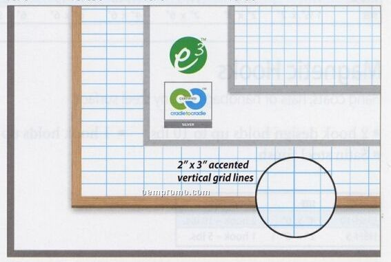 "1""X1"" Gridded Magnetic Dry Erase Board (36""X48"")"