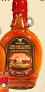 Medium Pure Maple Syrup In Alcoa Flask 375 Ml (W/Customization)
